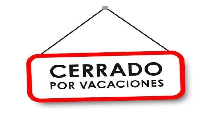 Cerrado por vacaciones volvemos en noviembre horario vacacional cerrado por vacaciones volvemos en noviembre thecheapjerseys Image collections